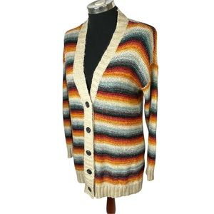 American Eagle XS Duster Cardigan Sweater Striped
